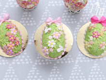 Load image into Gallery viewer, Spring Garden Blossom and Rabbits Easter Egg Cake (D - Light Pink)