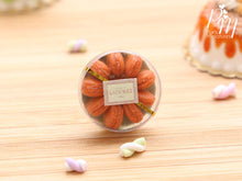 "Load image into Gallery viewer, Gift Box / Presentation of Salted Butter Caramel ""Parisian"" Macaroons - Miniature Food"