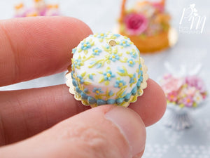 Classic 'Forget-Me-Not' Hand-piped Cake - Miniature Food