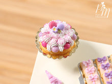 Load image into Gallery viewer, Pink St Honoré and Macaroons French Pastry - Miniature Food for Dollhouse 12th scale
