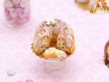 Load image into Gallery viewer, Rainbow Confetti Kouglof / Pound Cake (Cut) - 12th Scale Miniature Food