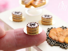 Load image into Gallery viewer, Shortbread Sablé (French Biscuit) Filled with Chocolate Cream, Decorated with Chocolate Bow