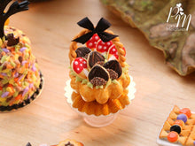 Load image into Gallery viewer, Autumn Basket Cake Filled with Novelty Chestnut and Toadstool Cookies - Miniature Food