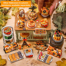 Load image into Gallery viewer, Autumn Cookies on Metal Baking Tray (Toadstool, Umbrella, Chestnut, Leaf) includes 2x Loose Cookies