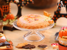 Load image into Gallery viewer, French Pumpkin Galette with Jack O'Lantern Face - 12th Scale Miniature Food