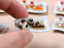 Load image into Gallery viewer, Classic French Pastries - St Honoré, Religieuse, Eclair - Chocolate Selection - Miniature Food