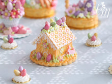 Load image into Gallery viewer, Handmade Miniature Cookie Easter House - Miniature Food in 12th Scale