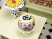 Load image into Gallery viewer, Charlotte aux Mûres - Blackberry Charlotte - 12th Scale Miniature Food