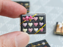 Load image into Gallery viewer, Luxurious Confiserie Box of Heart-Shaped Candy - Miniature Food in 12th Scale for Dollhouse