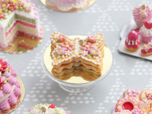 Load image into Gallery viewer, Butterfly-Shaped French Sablé Decorated with Beautiful Pink Flowers and Blossoms - Miniature Food