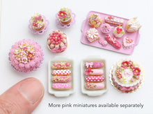 Load image into Gallery viewer, Presentation of Four Beautiful Pink French Eclairs (B) - Miniature Food