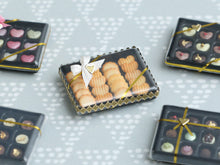 Load image into Gallery viewer, Gift Box of Golden Baked French Butter Cookies - Miniature Food in 12th Scale for Dollhouse