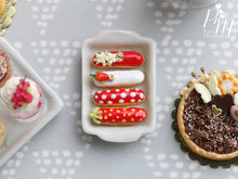Load image into Gallery viewer, Strawberry French Eclairs - Four Different Designs - Miniature Food