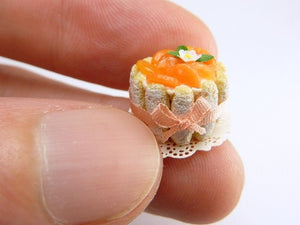 French Charlotte aux Clementines - 12th Scale Miniature Food