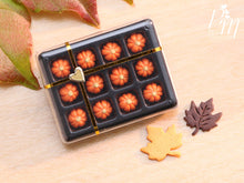 Load image into Gallery viewer, Gift Box of Pumpkin Candy for Autumn / Halloween - Miniature Food in 12th Scale for Dollhouse