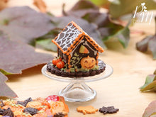 Load image into Gallery viewer, Spooky Chocolate Cookie Haunted House for Fall / Autumn / Halloween - Miniature Food