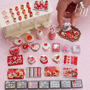 Box of Twelve Coloured Heart-Shaped Miniature Candies