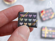 Load image into Gallery viewer, Box of Twelve Coloured Heart-Shaped Miniature Candies