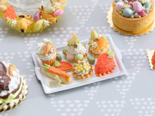 Load image into Gallery viewer, Easter-themed Pastries and Treats on Metal Baking Tray - 12th Scale Miniature Food