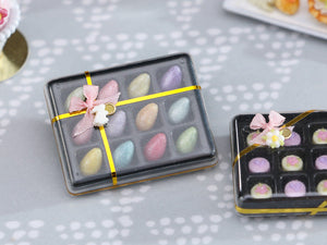 Gift Box of 12 Colourful Candy Easter Eggs - Miniature Food in 12th Scale
