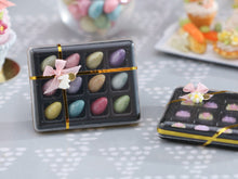 Load image into Gallery viewer, Gift Box of 12 Colourful Candy Easter Eggs - Miniature Food in 12th Scale