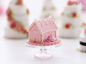 Pink Marie Antoinette Cookie House - Miniature Food for Dollhouse 12th scale