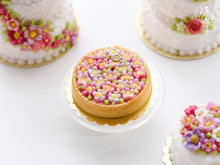 Load image into Gallery viewer, Pink Blossom Tart - Miniature Food for Dollhouse 12th scale
