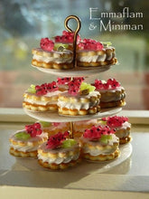 Load image into Gallery viewer, French Cream-Filled Red Currant Sablé (French Cookie / Biscuit) - 12th Scale Miniature Food