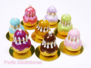 Caramel Religieuse - French Pastry Miniature Food in 12th Scale