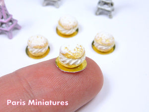 Choux Chantilly - Cream-filled Choux Bun - 12th Scale Miniature Food