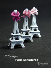Load image into Gallery viewer, Shabby Chic Eiffel Tower - Miniature Decoration - French Handmade Dollhouse Miniature