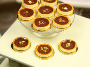 Tartelette au Chocolat - Chocolate Tartlet - Individual French Miniature Food in 12th Scale