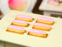 Load image into Gallery viewer, Pink Eclair - French Pastry in 12th Scale - Handmade Dollhouse Miniature Food