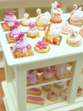 Load image into Gallery viewer, French Raspberry Pastry Swan - Pink Cream - 12th Scale Miniature Food