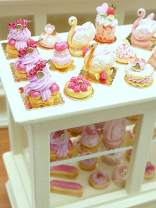 Pink Dome French Cake - 'Let Them Eat Cake' - 12th Scale Miniature Food