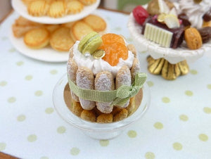 French Charlotte - Clementine and Pistachio - Miniature Food in 12th Scale
