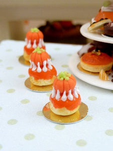 Pumpkin Religieuse French Pastry - 12th Scale Miniature Food