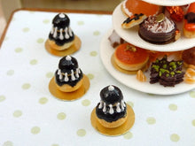 Load image into Gallery viewer, Black Religieuse for Halloween - 12th Scale French Miniature Food