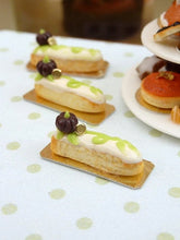 Load image into Gallery viewer, Chocolate Pumpkin Patch Eclair - 12th Scale French Miniature Food