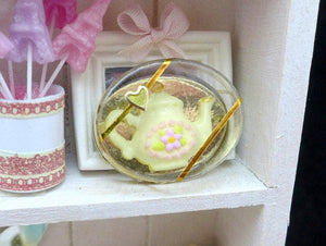 Chocolate Teapot Gift Box - 12th Scale Dollhouse Miniature Food