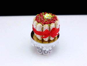 Cherry Charlotte - 12th Scale Handmade Miniature Food