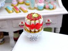 Load image into Gallery viewer, Cherry Charlotte - 12th Scale Handmade Miniature Food