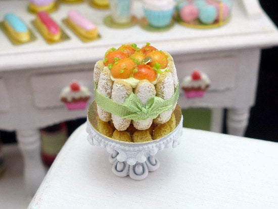 Apricot Charlotte - 12th Scale Handmade Miniature Food