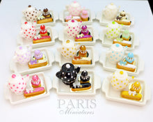 Load image into Gallery viewer, Tea Tray Set with French Pastries - Rose - 12th Scale Miniature Food