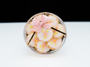 Pink Blossom Cookies Gift Box - Miniature Food in 12th Scale