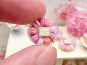 Shades of Pink Parisian Macaroons - Handmade Miniature Food in 12th Scale
