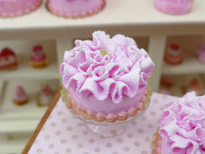 Pink Ruffle Cake - Large - 12th Scale Miniature Food