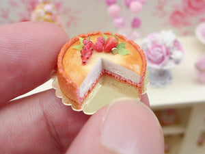 Biscuit Rose de Reims (Pink Biscuit) Cheesecake - 12th Scale Miniature Food