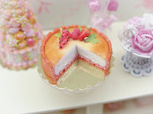 Load image into Gallery viewer, Biscuit Rose de Reims (Pink Biscuit) Cheesecake - 12th Scale Miniature Food