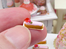 Load image into Gallery viewer, Pink Ispahan Eclair - Miniature Food French Pastry in 12th Scale